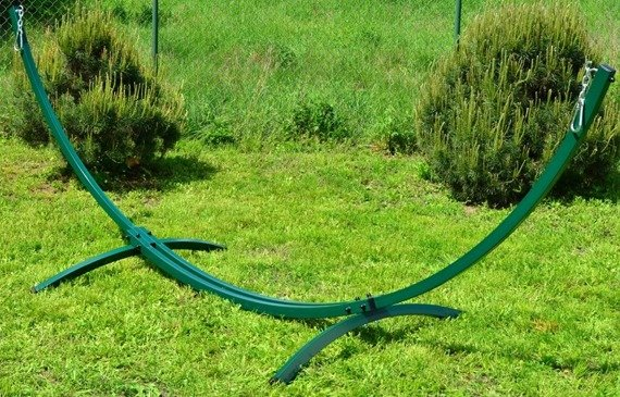 Długi Stalowy Stelaż do Hamaka (zielony)